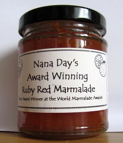 Nana Day's Award Winning Ruby Red Marmalade