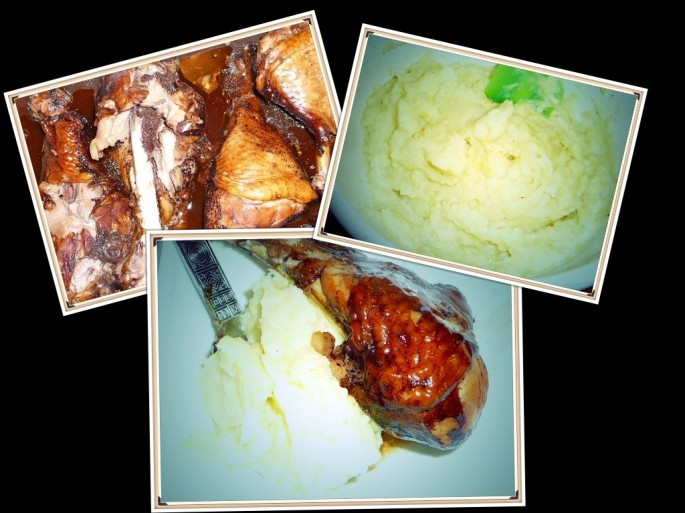 Balsamic chicken and cauliflower mash yum