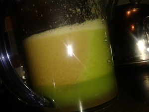 pear ginger and broccoli juice 3